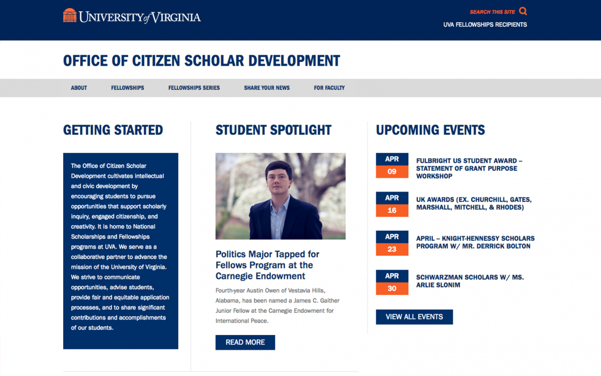 Screen Shot of Citizen Scholars Site